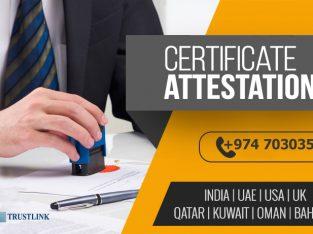 Certificate Attestation in Qatar