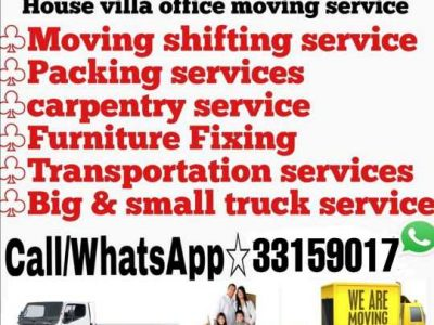 Shifting moving serviceLooking for Shifting, moving, transportation,Please contact here 33159017