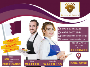 Waiter & Waitress (Part Time)