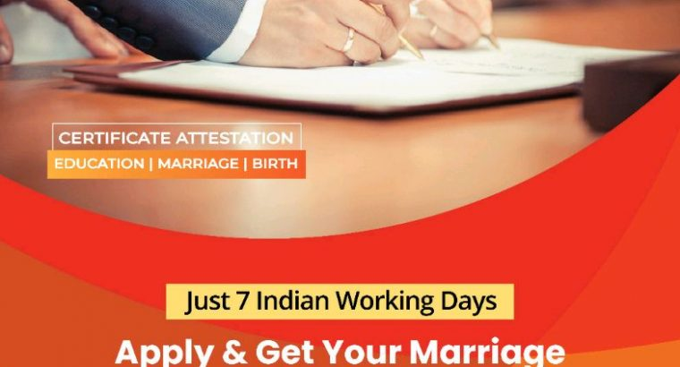 Indian Marriage Certificate Attestation