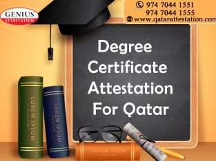 Degree Certificate attestation for Qatar