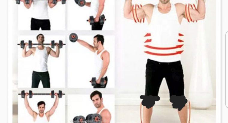 Home gym 40 kg Dumbbell/ Barbell set (Brand new)