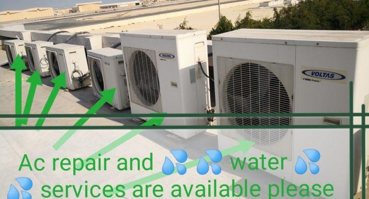 Ac repair and 💦 water service